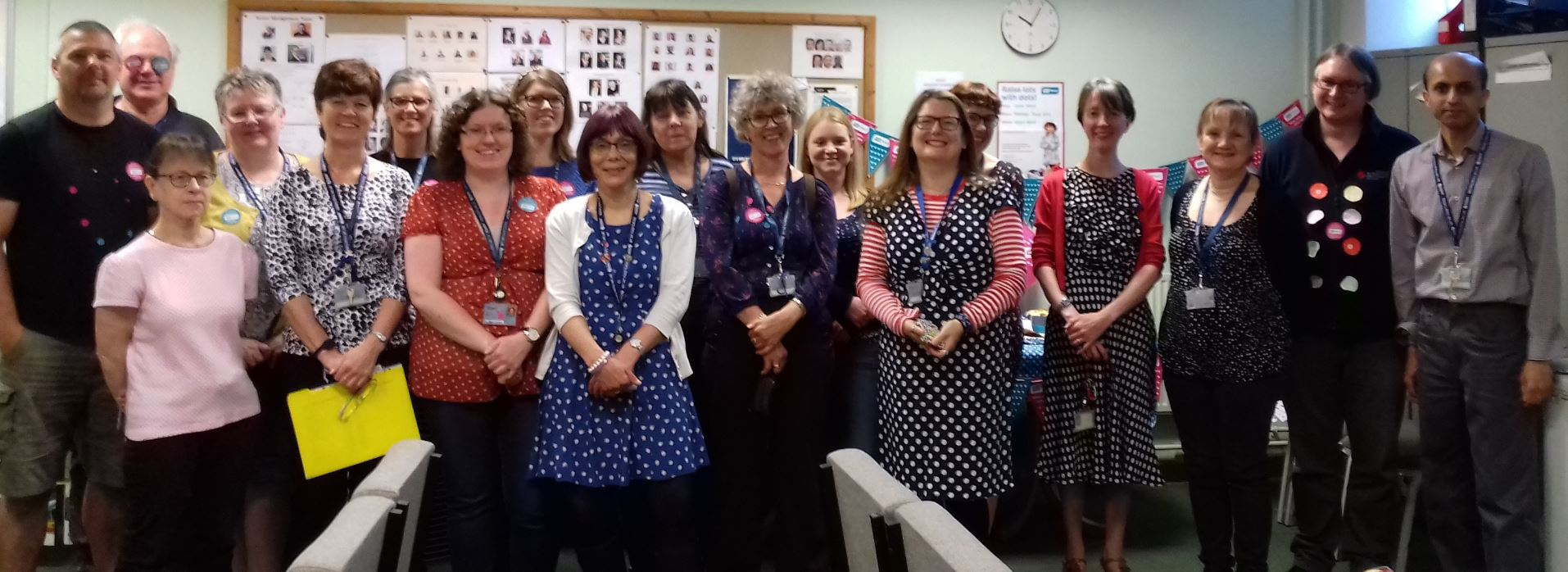 'Wear dots…raise lots' – LLS staff supporting RNIB and accessible formats
