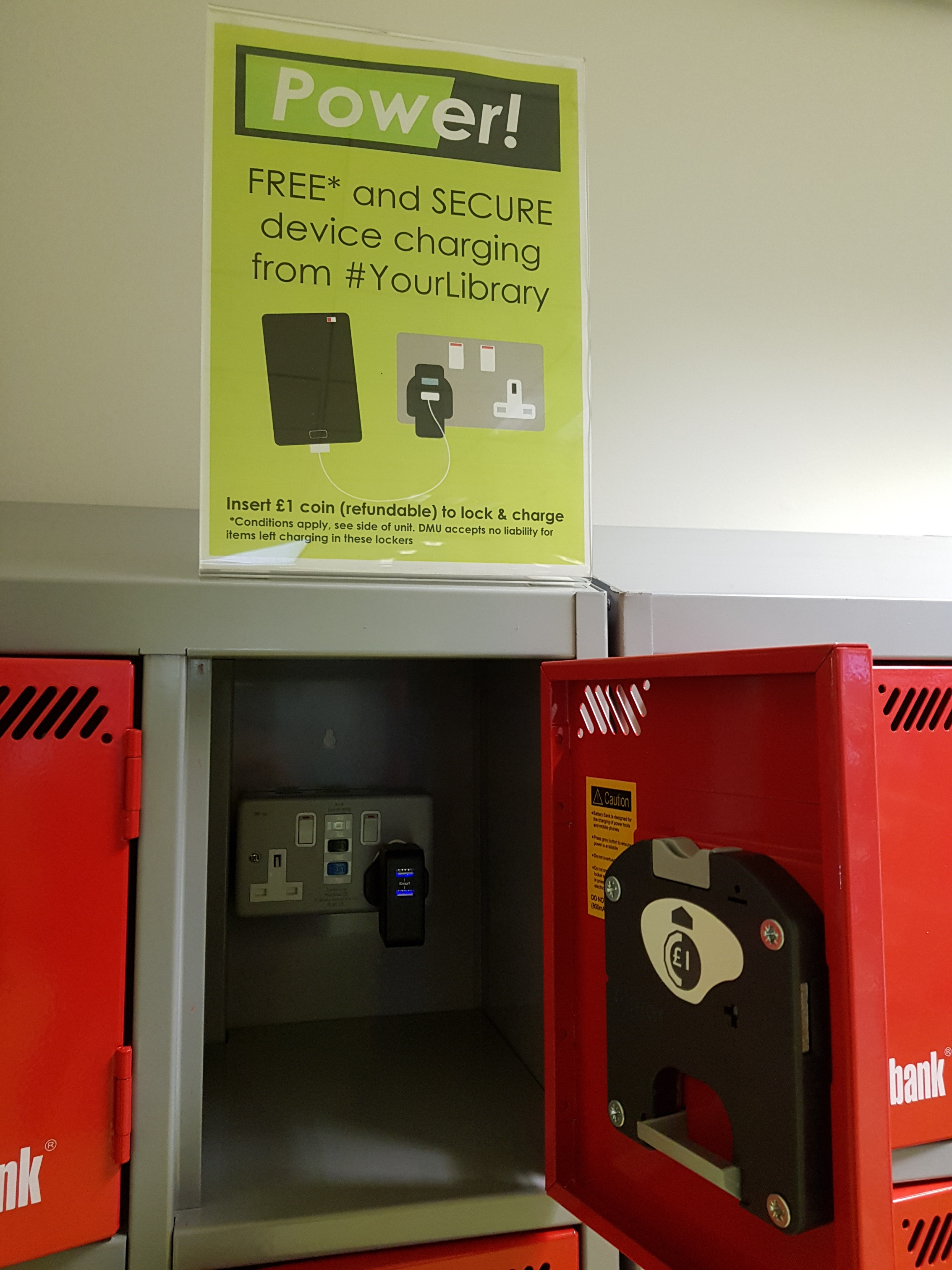 Free boost! Secure device charging lockers in Kimberlin Library